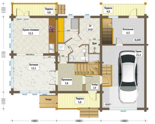 план 1го этажа чепецк