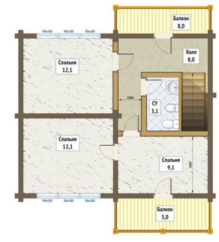 план 2-го этажа чепецк