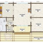 план этажа дачный дом