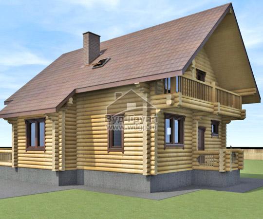 дом из оцилиндрованного бревна митино
