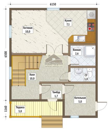 стулово план 1-го этажа