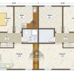план дома-дуплекс вариант 1