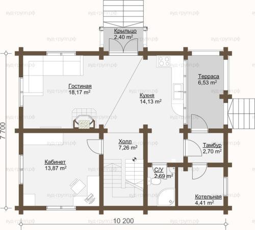 план 1-го этажа углич