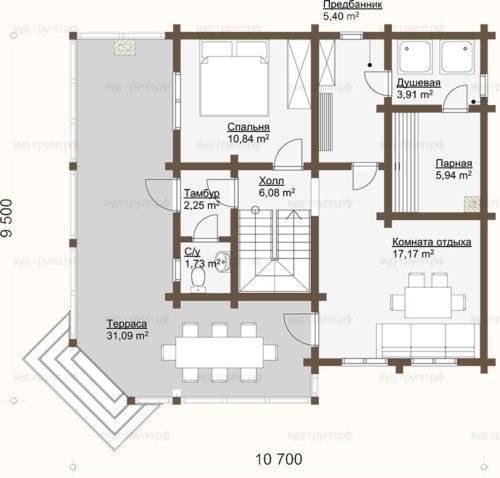 визинга план 1-го этажа