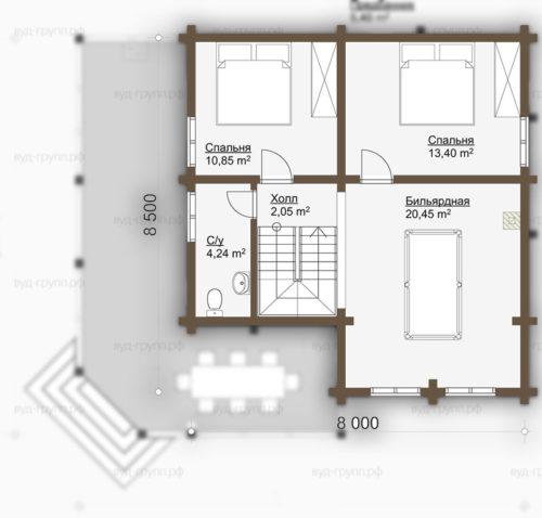 визинга план 2-го этажа