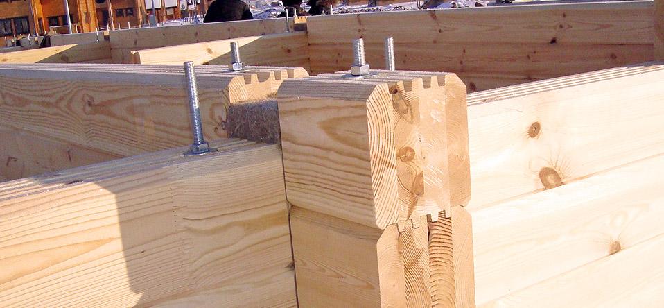 сколько строится дом из клееного бруса